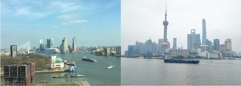 Port city revitalisation in sister-cities Rotterdam and Shanghai