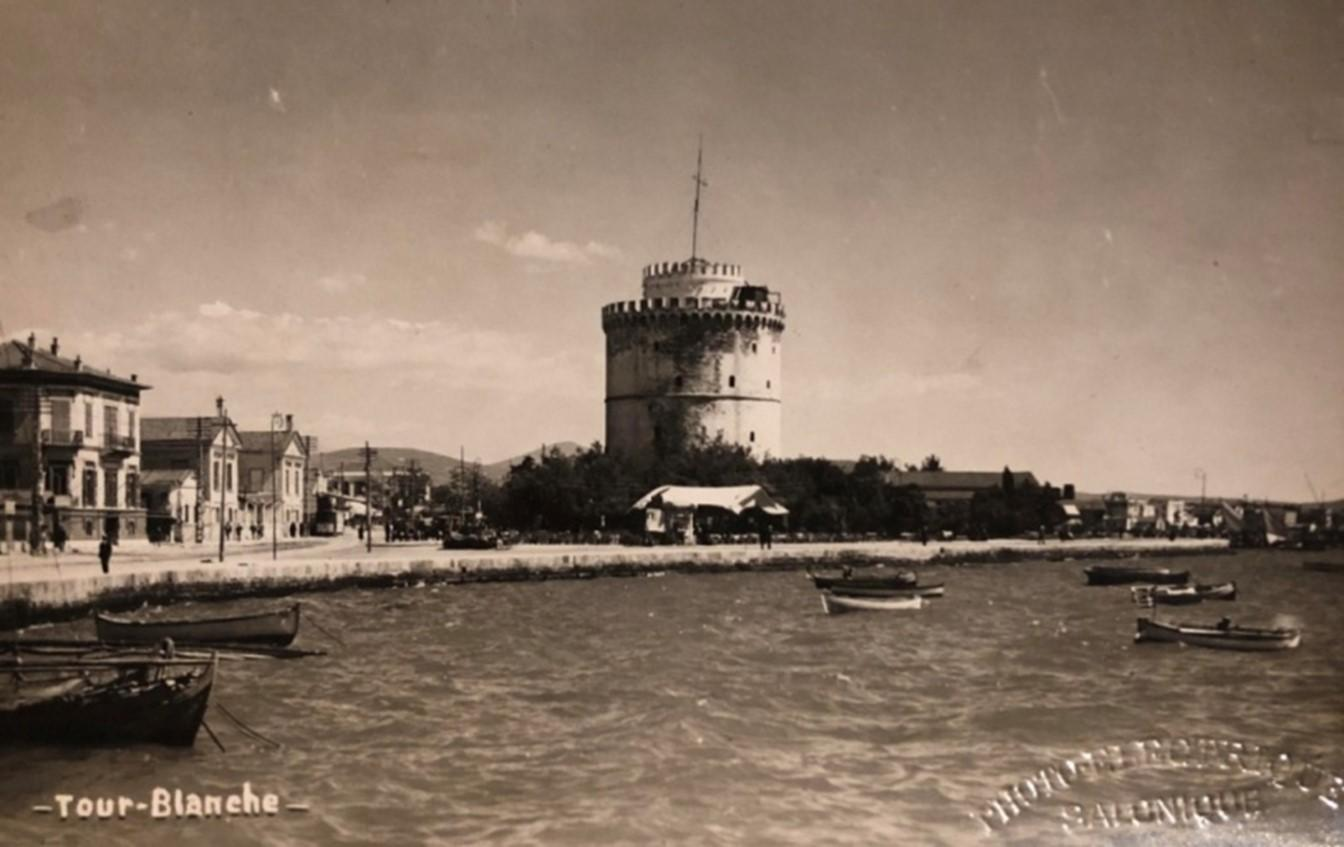 Figure 2. Photo showing the White Tower (Tour Blanche), before 1917 (from personal collection)